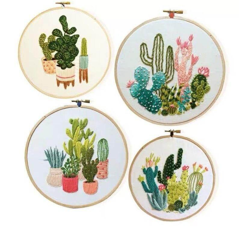 cactus etsy - 18x groene inspiratie voor botanical borduurpatronen: urban jungle borduren!
