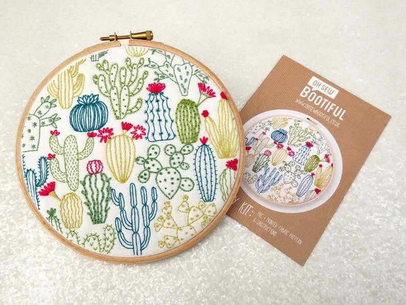 ohsewbootiful etsy - 18x groene inspiratie voor botanical borduurpatronen: urban jungle borduren!