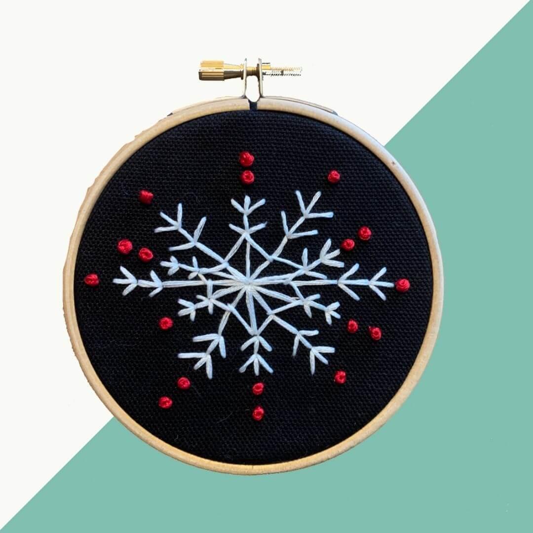 10 - Gratis borduurpatroon: Winternacht