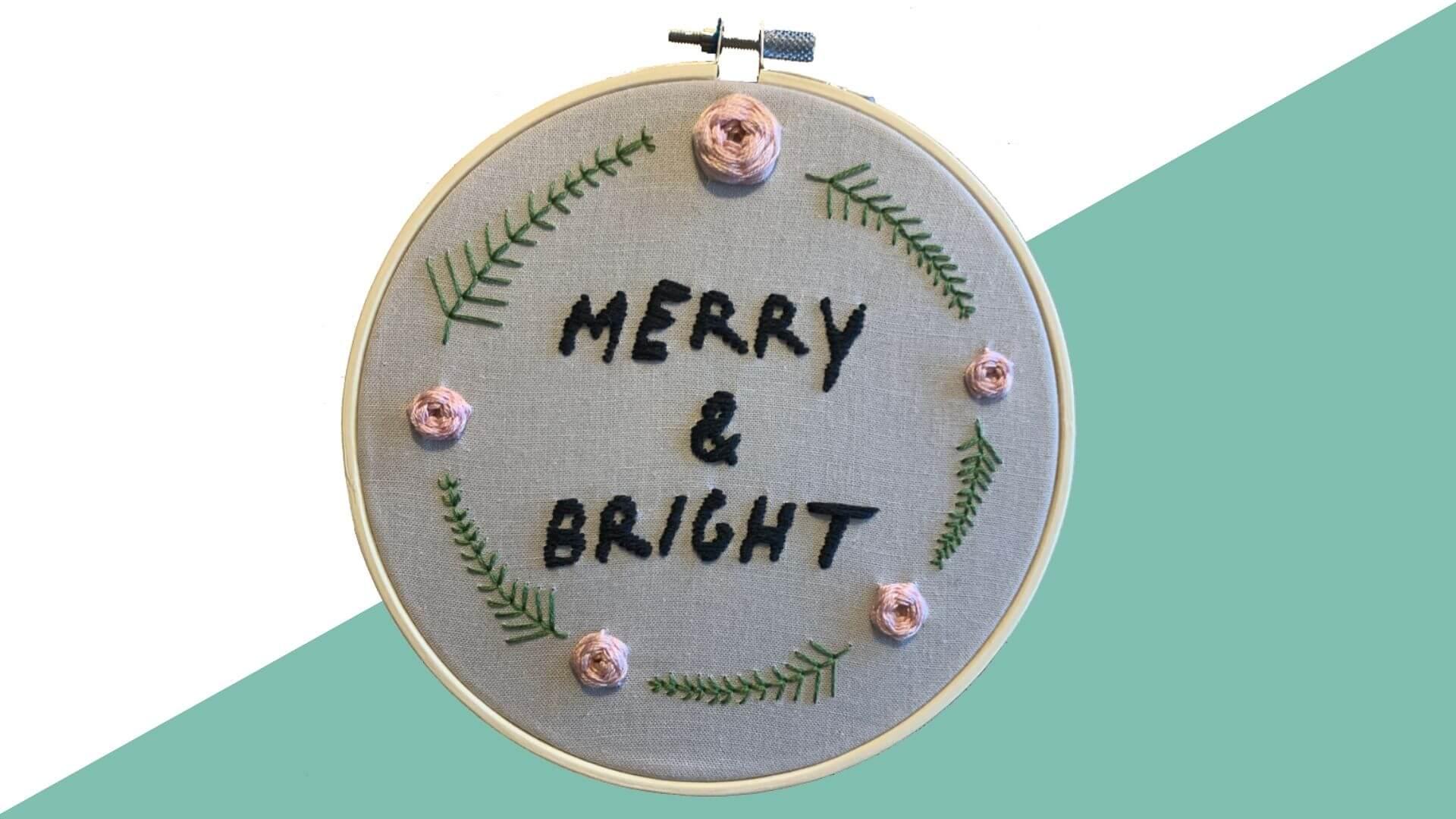 8 1 - Gratis borduurpatroon: Merry & Bright